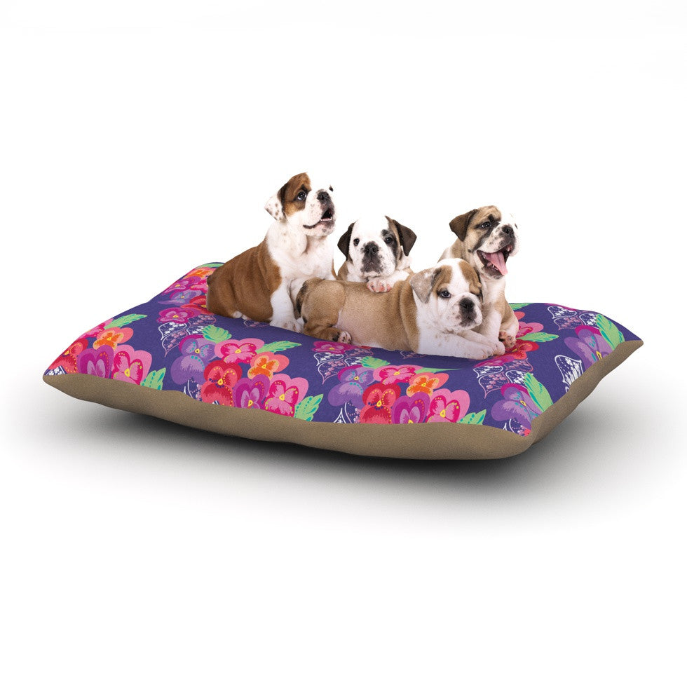 "Anneline Sophia ""Beautifully Boho"" Purple Dog Bed - KESS InHouse  - 1"