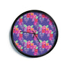 "Anneline Sophia ""Beautifully Boho"" Purple Modern Wall Clock"