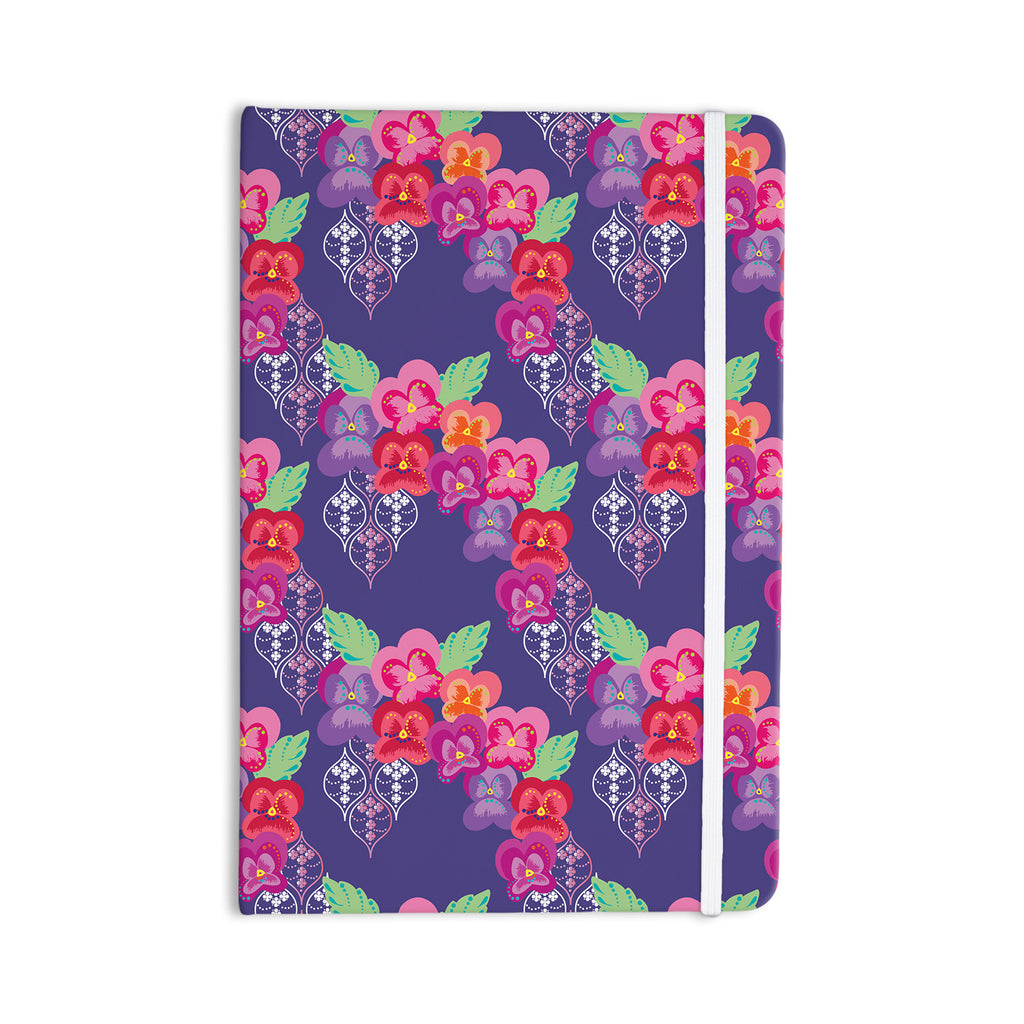 "Anneline Sophia ""Beautifully Boho"" Purple Everything Notebook - KESS InHouse  - 1"
