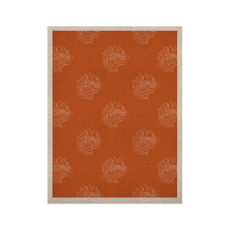 "Anneline Sophia ""Simpley Protea"" Orange KESS Naturals Canvas (Frame not Included) - KESS InHouse  - 1"