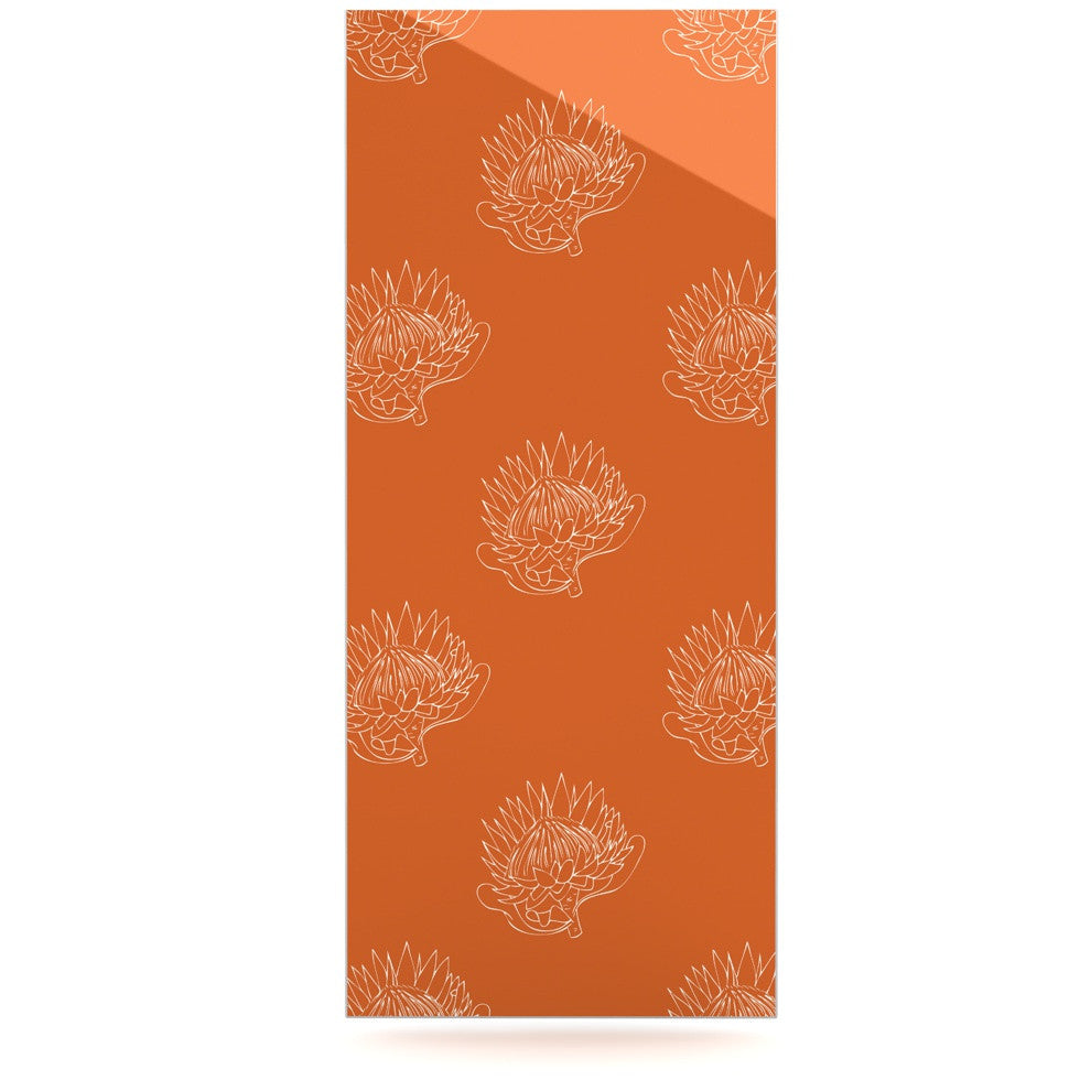 "Anneline Sophia ""Simpley Protea"" Orange Luxe Rectangle Panel - KESS InHouse  - 1"
