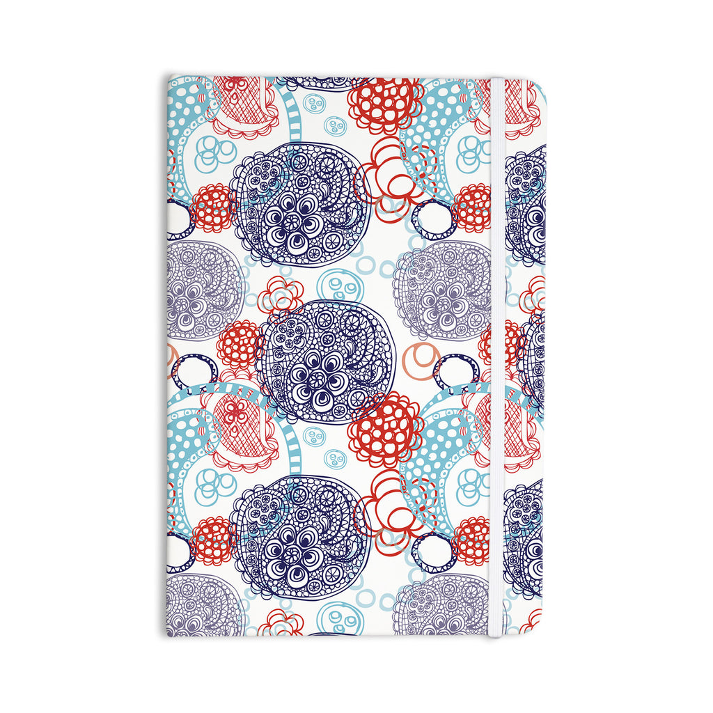 "Anneline Sophia ""Lacy Ying Yang"" Blue Everything Notebook - KESS InHouse  - 1"