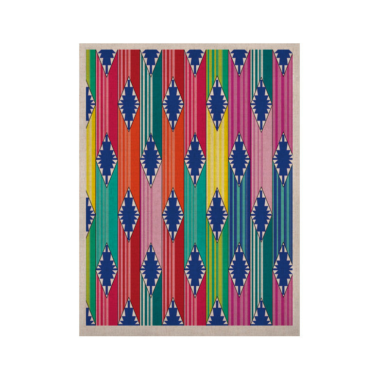 "Anneline Sophia ""Blanket"" Rainbow Tribal KESS Naturals Canvas (Frame not Included) - KESS InHouse  - 1"