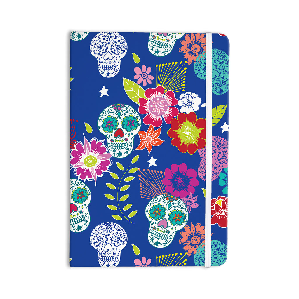 "Anneline Sophia ""Day of the Dead"" Blue Aztec Everything Notebook - KESS InHouse  - 1"