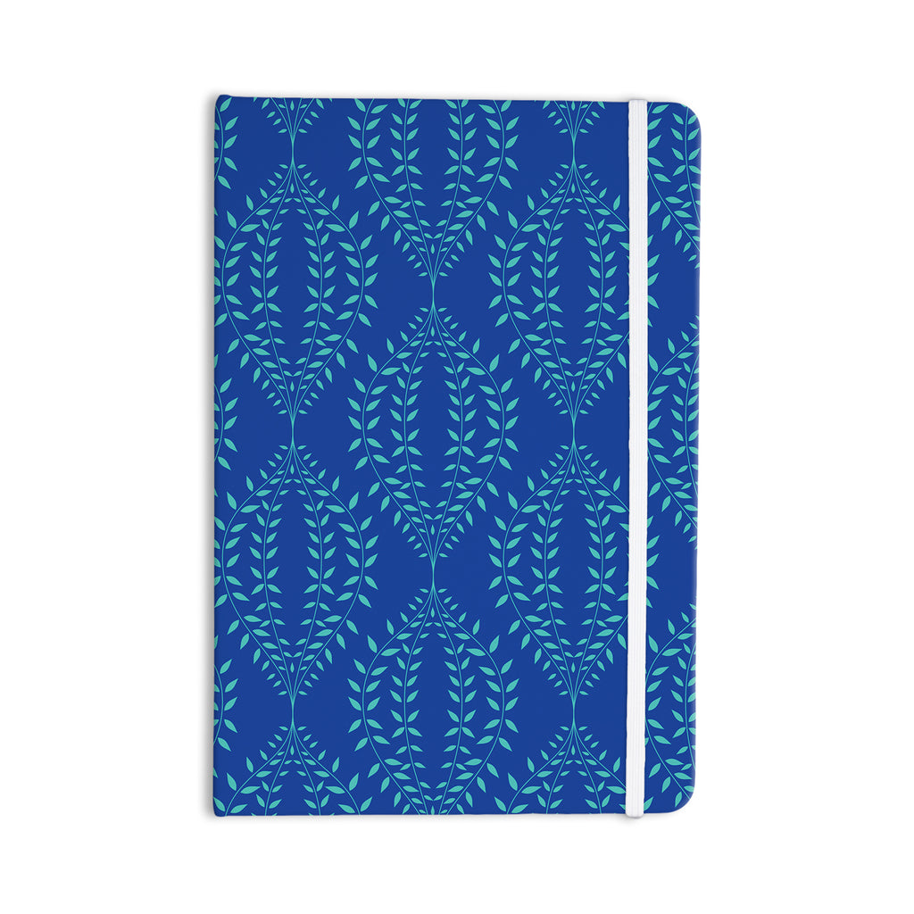 "Anneline Sophia ""Laurel Leaf Blue"" Navy Floral Everything Notebook - KESS InHouse  - 1"