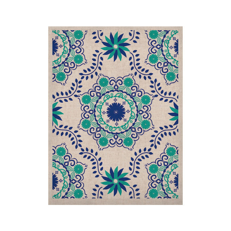 "Anneline Sophia ""Let's Dance Blue"" Teal Aqua KESS Naturals Canvas (Frame not Included) - KESS InHouse  - 1"
