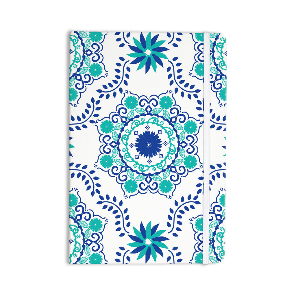 "Anneline Sophia ""Let's Dance Blue"" Teal Aqua Everything Notebook - KESS InHouse  - 1"
