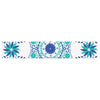 "Anneline Sophia ""Let's Dance Blue"" Teal Aqua Table Runner - KESS InHouse  - 1"