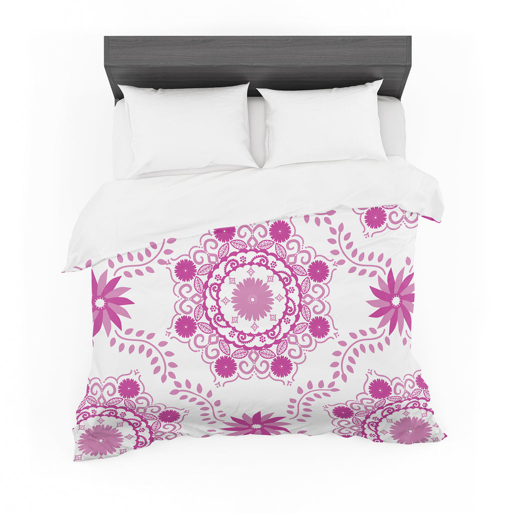 "Anneline Sophia ""Let's Dance Fuschia"" Pink Floral Featherweight Duvet Cover"