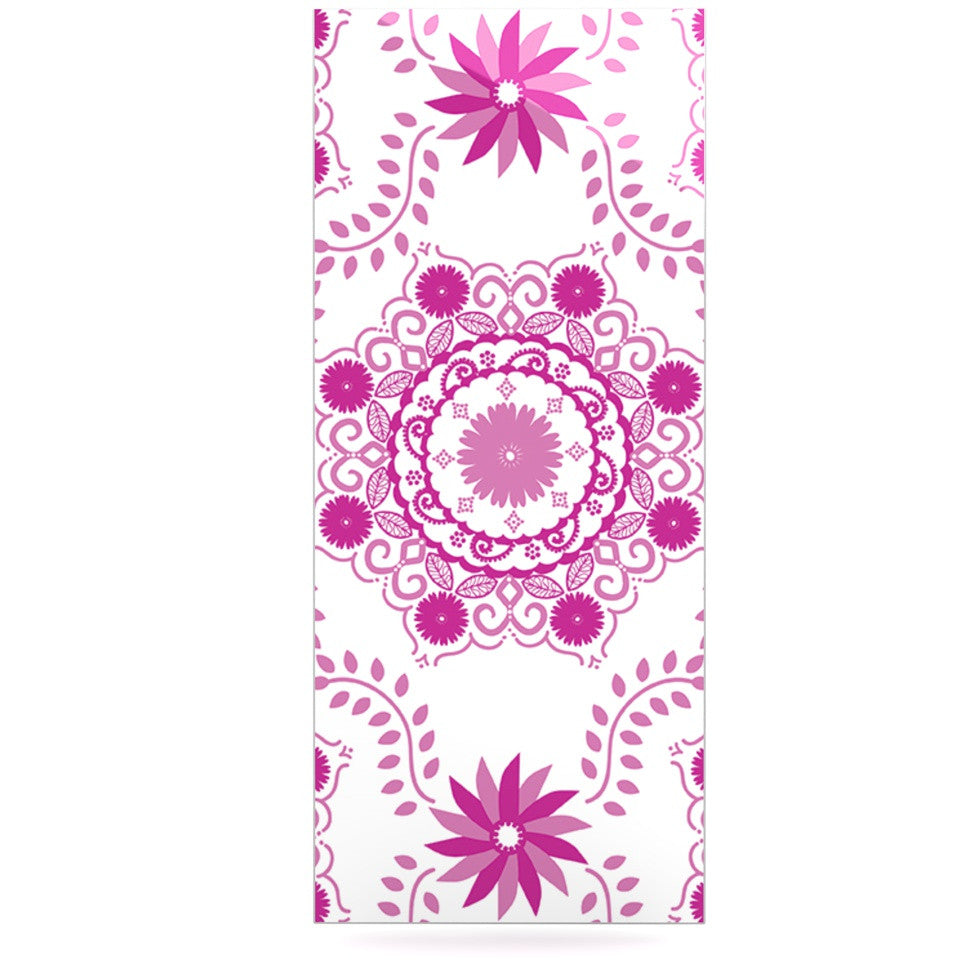 "Anneline Sophia ""Let's Dance Fuschia"" Pink Floral Luxe Rectangle Panel - KESS InHouse  - 1"