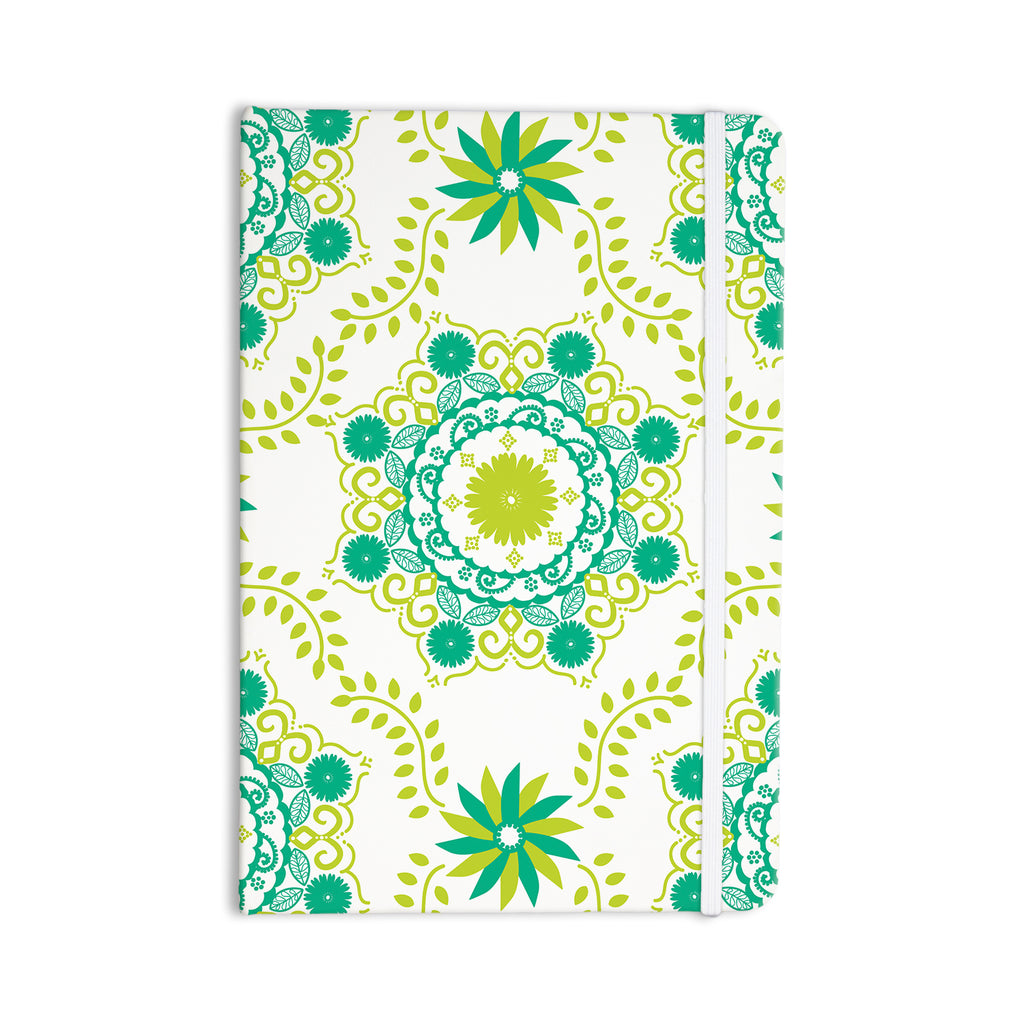 "Anneline Sophia ""Let's Dance Green"" Teal Floral Everything Notebook - KESS InHouse  - 1"