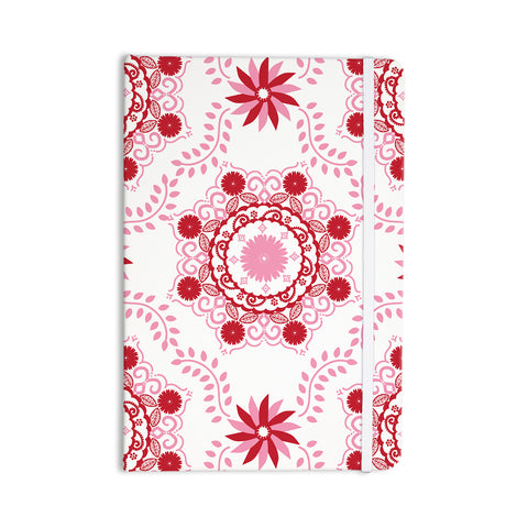 "Anneline Sophia ""Let's Dance Red"" Pink Floral Everything Notebook - KESS InHouse  - 1"