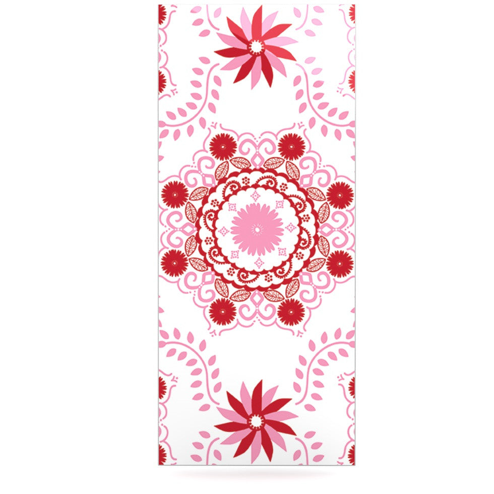 "Anneline Sophia ""Let's Dance Red"" Pink Floral Luxe Rectangle Panel - KESS InHouse  - 1"