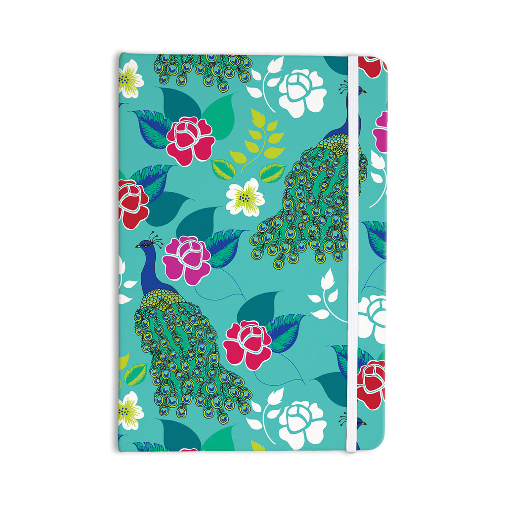 "Anneline Sophia ""Mexican Peacock"" Teal Rainbow Everything Notebook - KESS InHouse  - 1"