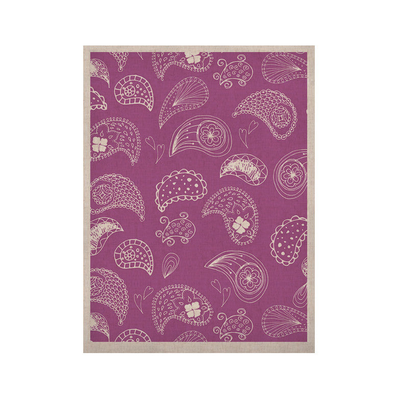"Anneline Sophia ""Tropical Paisley"" Purple White KESS Naturals Canvas (Frame not Included) - KESS InHouse  - 1"