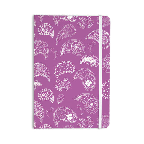 "Anneline Sophia ""Tropical Paisley"" Purple White Everything Notebook - Outlet Item"