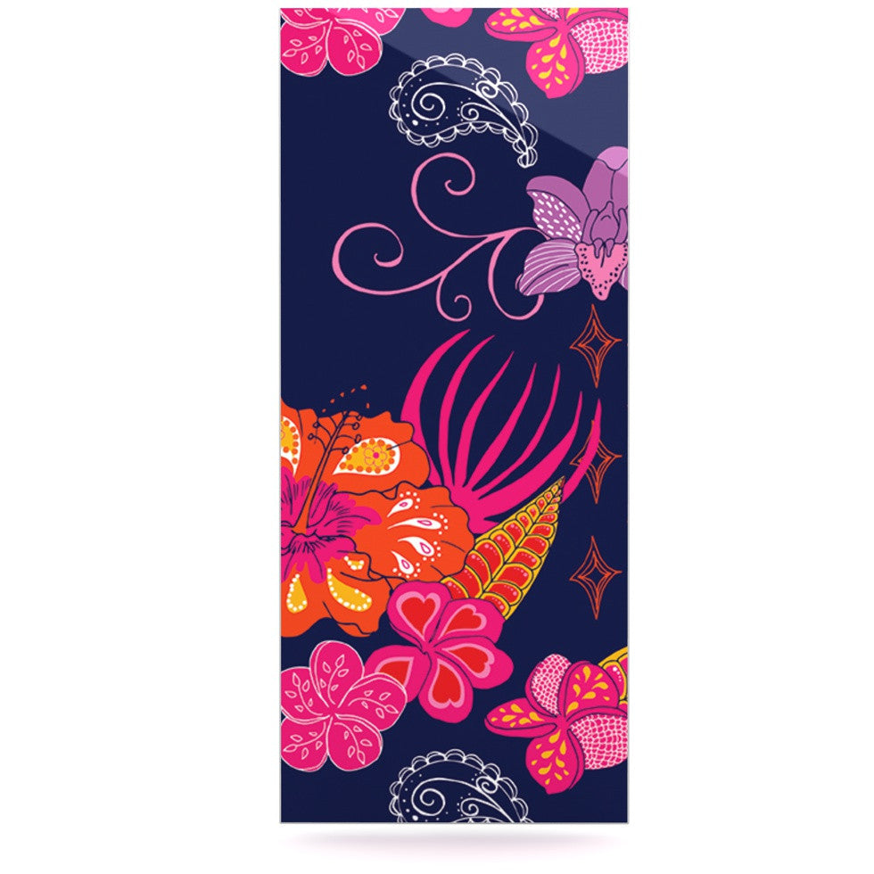 "Anneline Sophia ""Tropical Paradise"" Purple Floral Luxe Rectangle Panel - KESS InHouse  - 1"