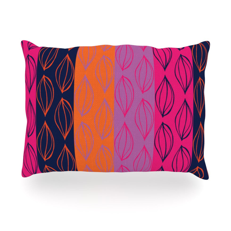 "Anneline Sophia ""Tropical Seeds"" Pink Orange Oblong Pillow - KESS InHouse"