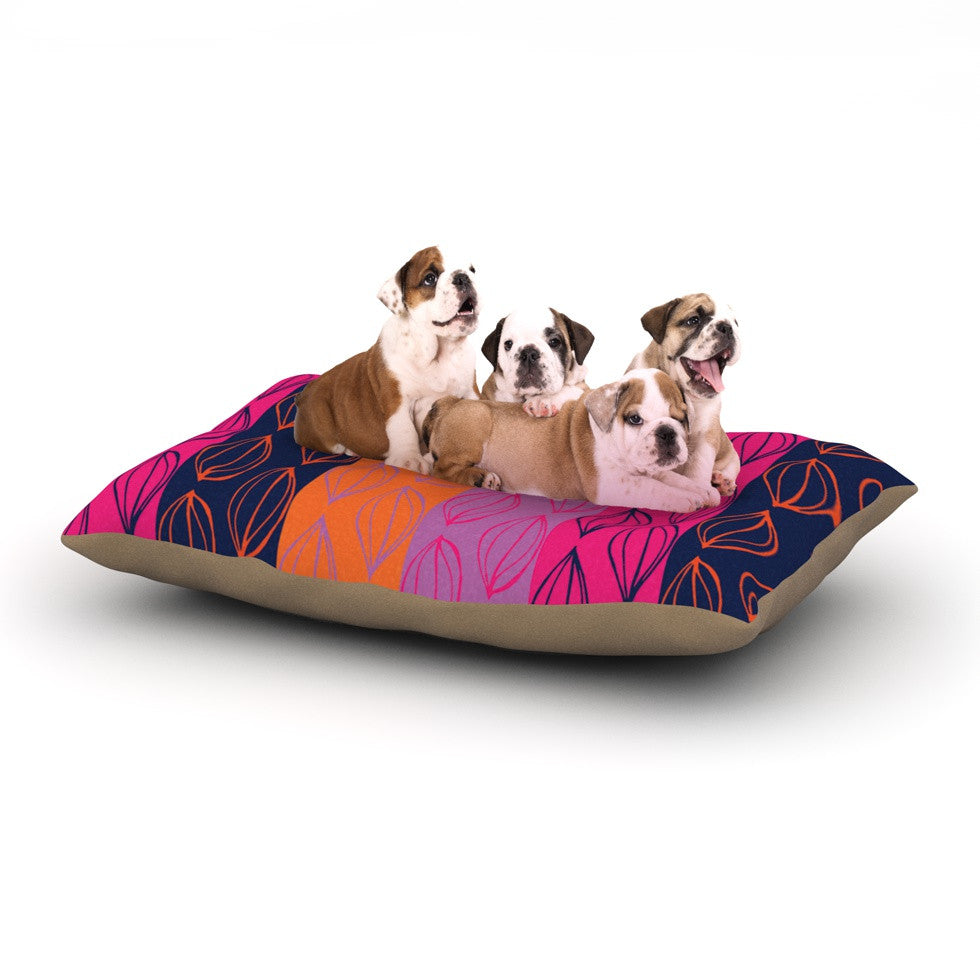 "Anneline Sophia ""Tropical Seeds"" Pink Orange Dog Bed - KESS InHouse  - 1"