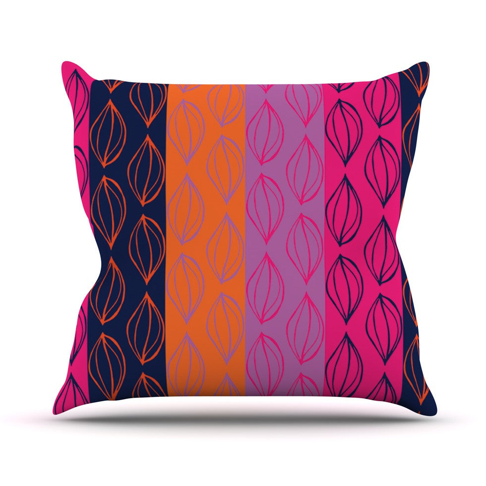 "Anneline Sophia ""Tropical Seeds"" Pink Orange Outdoor Throw Pillow - KESS InHouse  - 1"