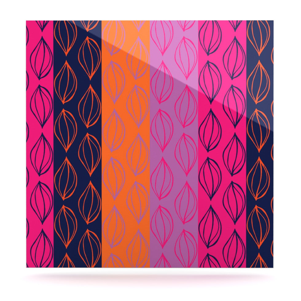 "Anneline Sophia ""Tropical Seeds"" Pink Orange Luxe Square Panel - KESS InHouse  - 1"