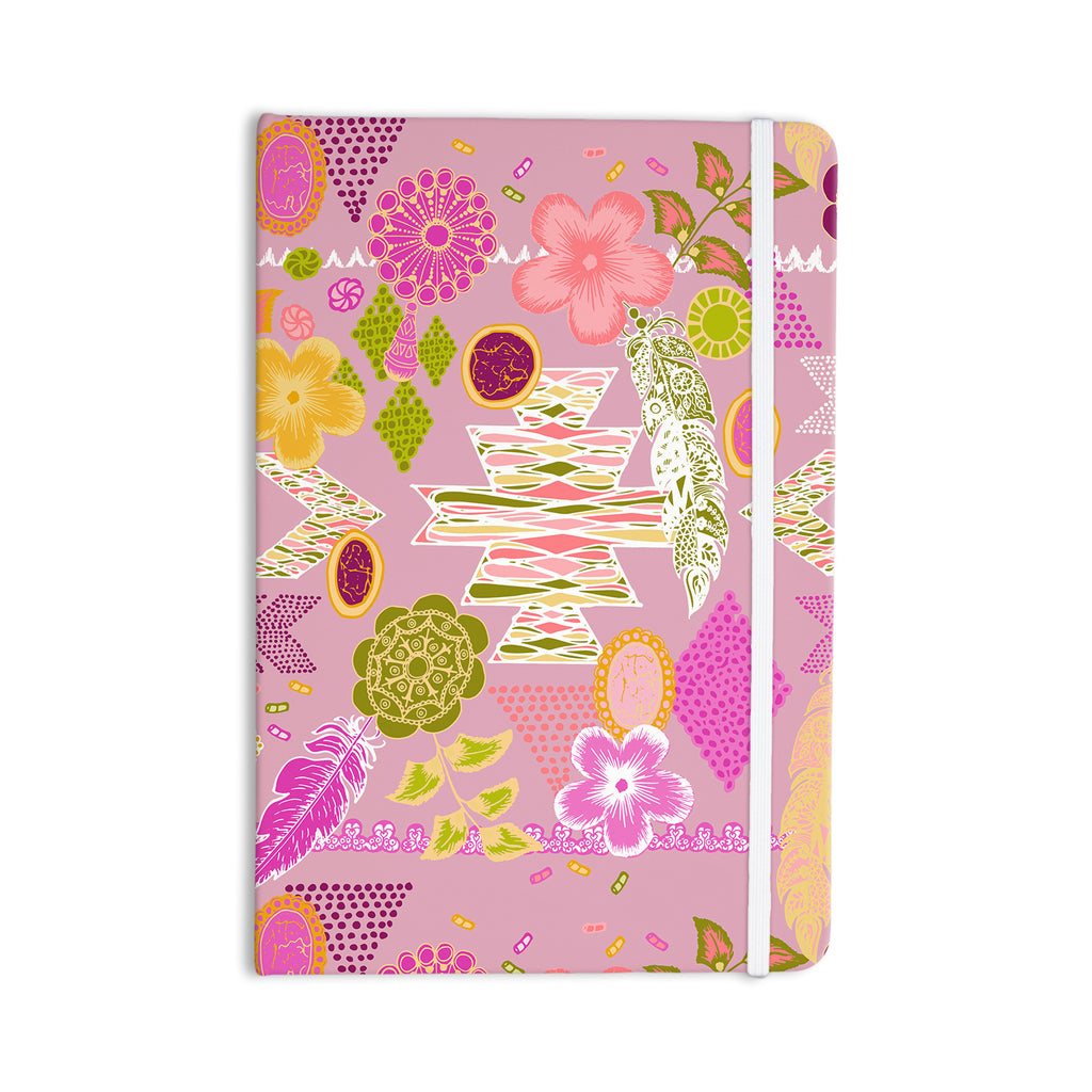 "Anneline Sophia ""Aztec Boho"" Yellow Blue Everything Notebook - KESS InHouse  - 1"