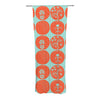 "Anneline Sophia ""Dotty Papercut Orange"" Circles Teal Decorative Sheer Curtain - KESS InHouse"