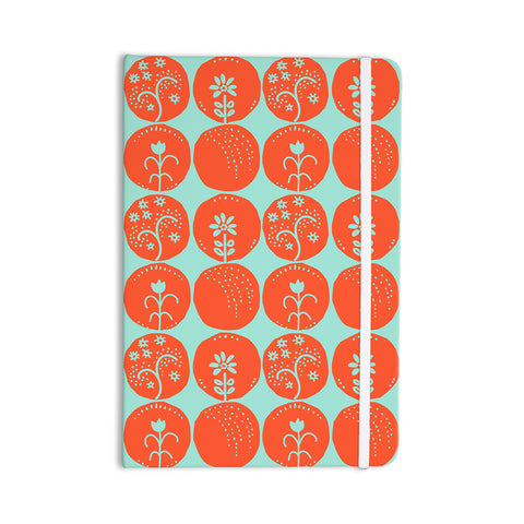 "Anneline Sophia ""Dotty Papercut Orange"" Circles Teal Everything Notebook - KESS InHouse  - 1"