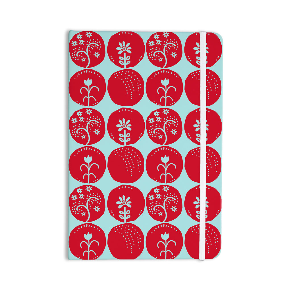 "Anneline Sophia ""Dotty Papercut Red"" Circles Blue Everything Notebook - KESS InHouse  - 1"