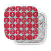 "Anneline Sophia ""Dotty Papercut Red"" Circles Blue Pot Holder"