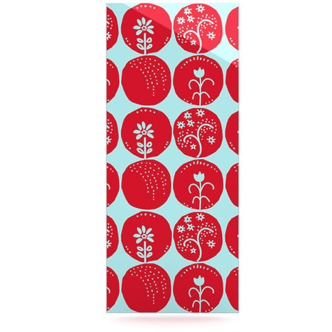 "Anneline Sophia ""Dotty Papercut Red"" Circles Blue Luxe Rectangle Panel - KESS InHouse  - 1"