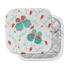 "Anneline Sophia ""Leafy Butterflies Red"" Aqua Butterfly Pot Holder"