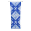"Anneline Sophia ""Diamonds Blue"" Aqua White Decorative Sheer Curtain - KESS InHouse"