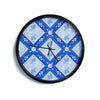 "Anneline Sophia ""Diamonds Blue"" Aqua White Modern Wall Clock"