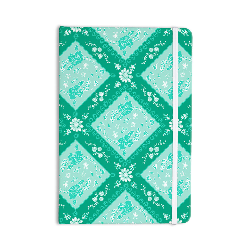 "Anneline Sophia ""Diamonds Mint"" Green Seafoam Everything Notebook - KESS InHouse  - 1"