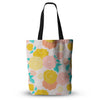 "Anneline Sophia ""Peonies Peach"" Yellow Pink Everything Tote Bag - KESS InHouse  - 1"