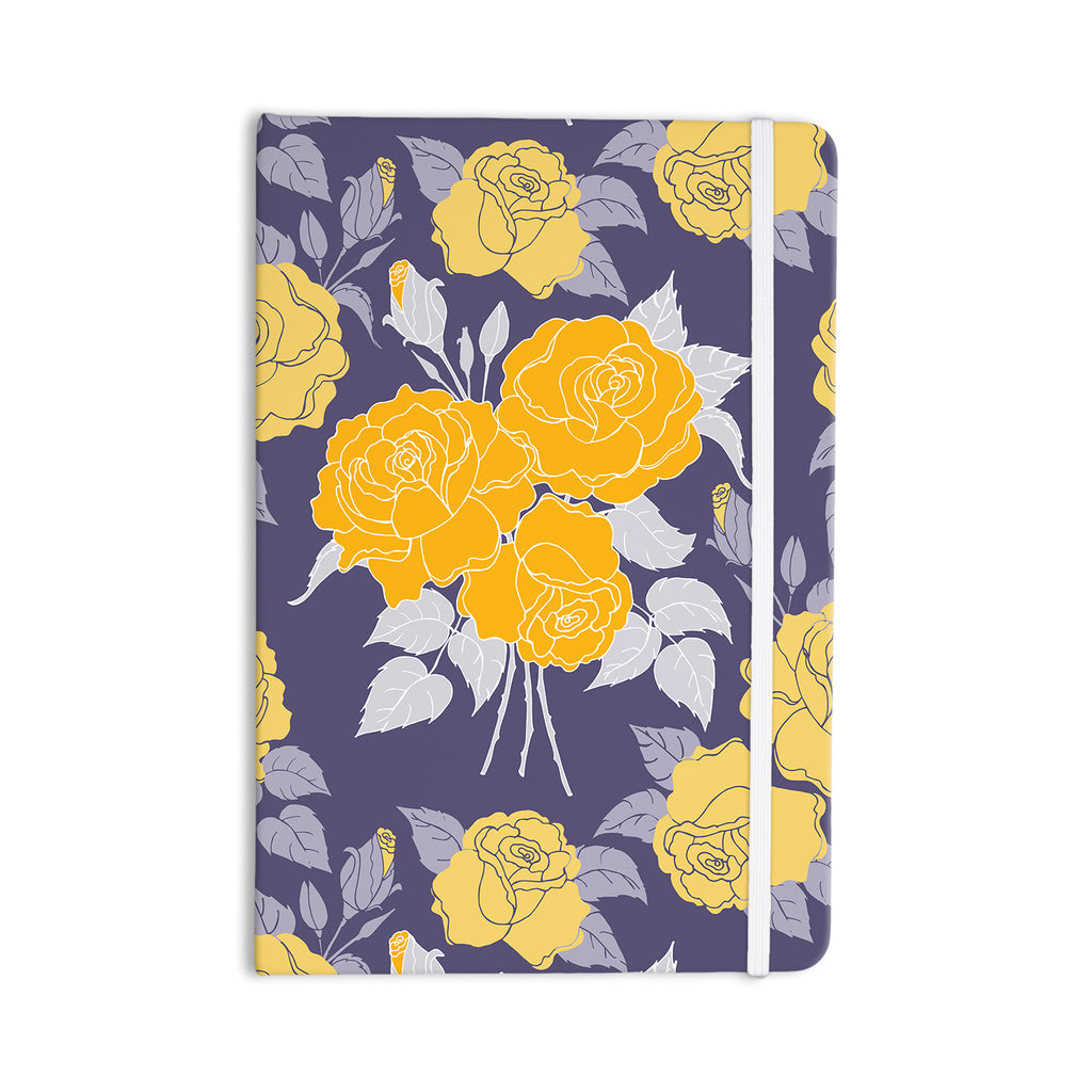 "Anneline Sophia ""Summer Rose Yellow"" Purple Lavender Everything Notebook - KESS InHouse  - 1"