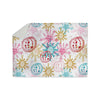"Anneline Sophia ""Let It Snow"" Multicolor Sherpa Blanket - KESS InHouse  - 1"