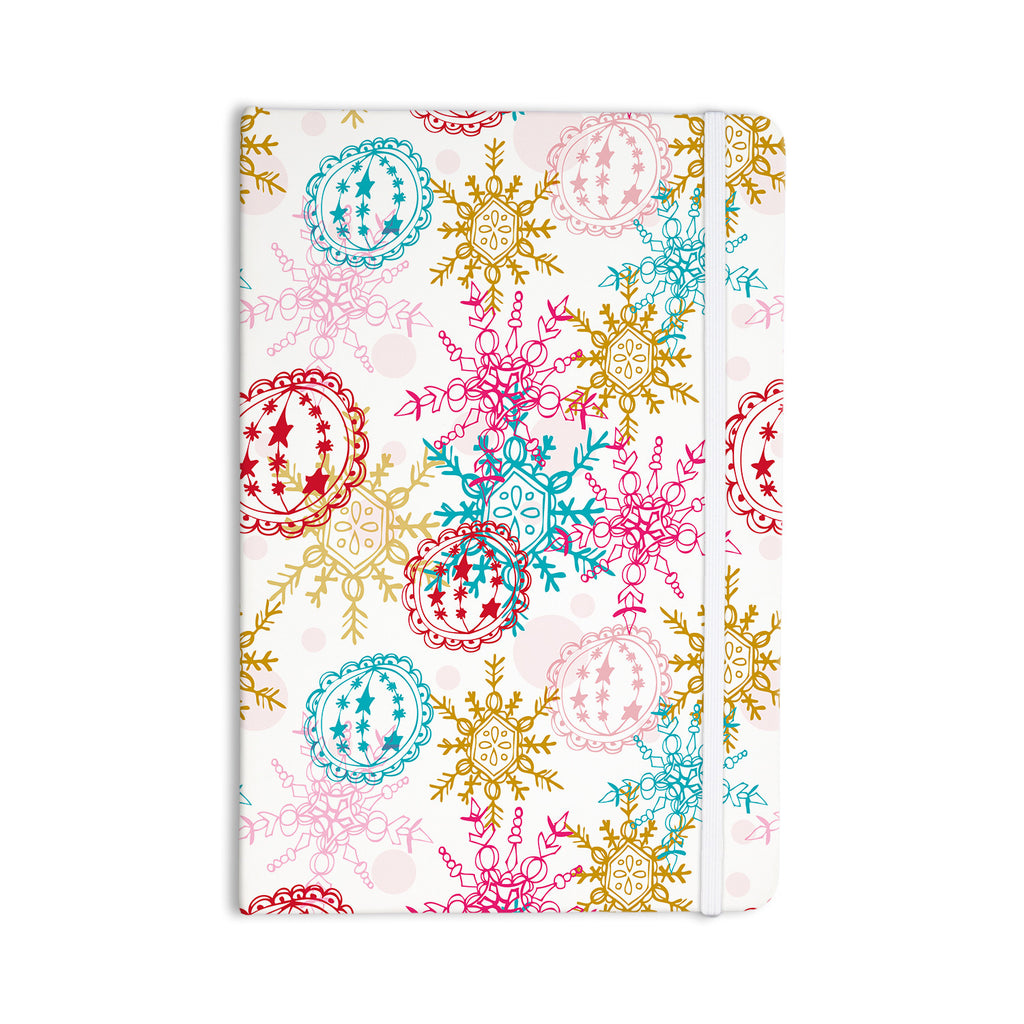 "Anneline Sophia ""Let It Snow"" Multicolor Everything Notebook - KESS InHouse  - 1"