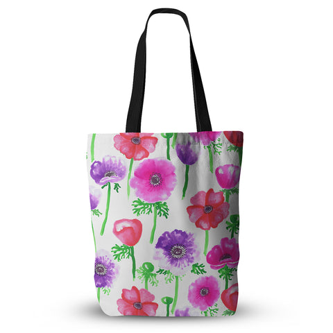"Anneline Sophia ""Anemones"" Pink Flowers Everything Tote Bag - KESS InHouse  - 1"