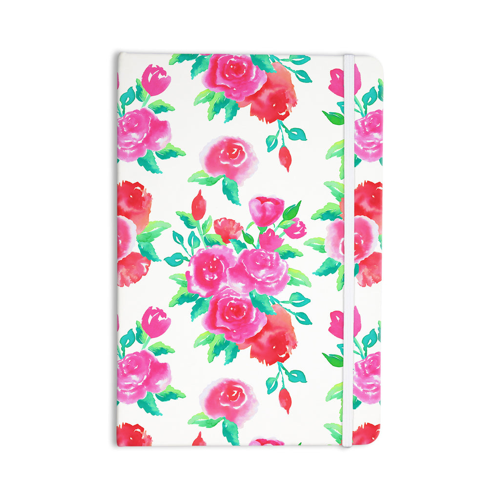 "Anneline Sophia ""Pink Roses"" Magenta Floral Everything Notebook - KESS InHouse  - 1"