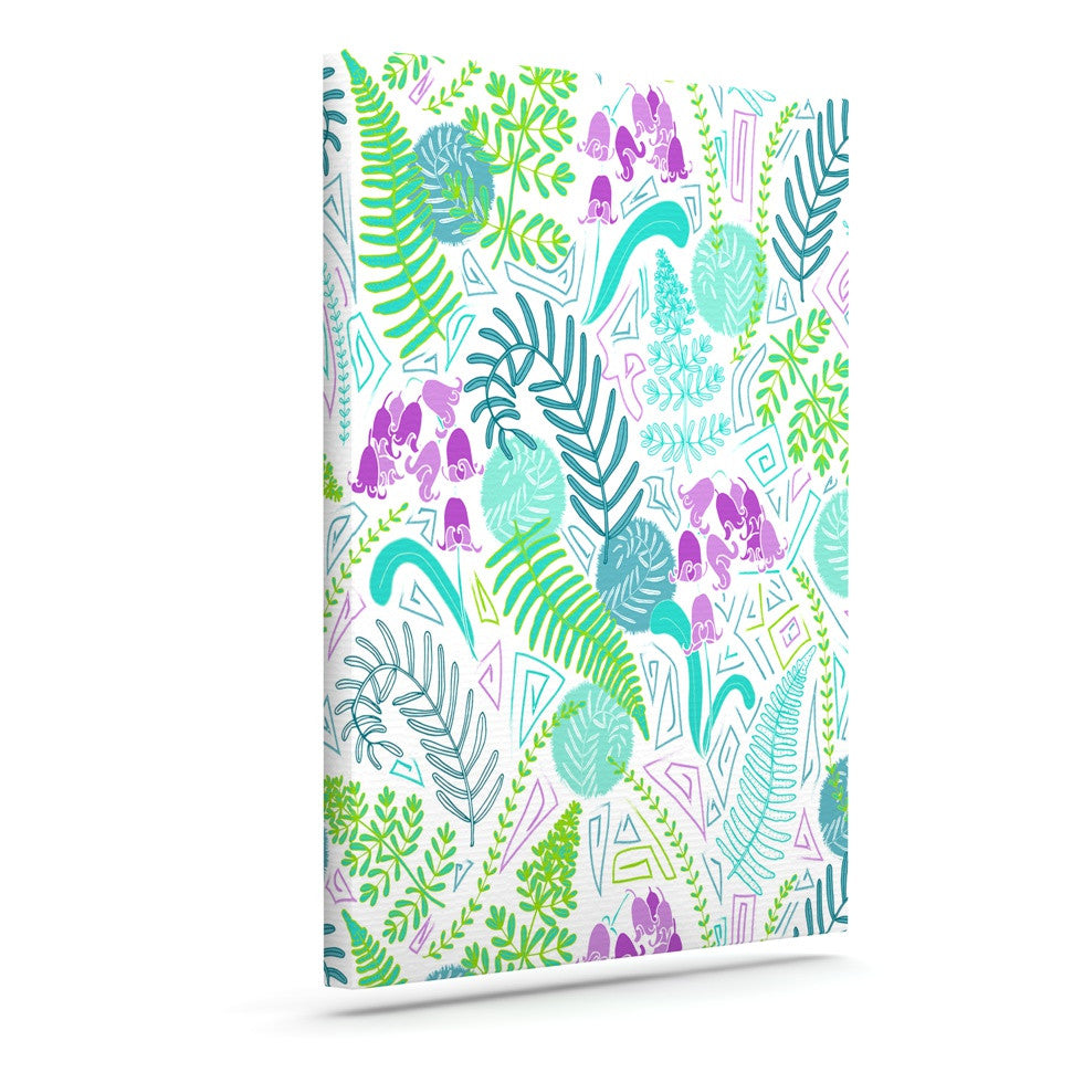 "Anneline Sophia ""Fern Forest"" Blue Teal Canvas Art - KESS InHouse  - 1"