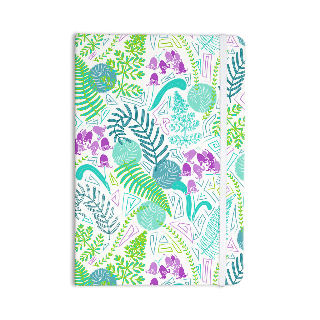 "Anneline Sophia ""Fern Forest"" Blue Teal Everything Notebook - KESS InHouse  - 1"