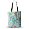 "Anneline Sophia ""Fern Forest"" Blue Teal Everything Tote Bag - Outlet Item"
