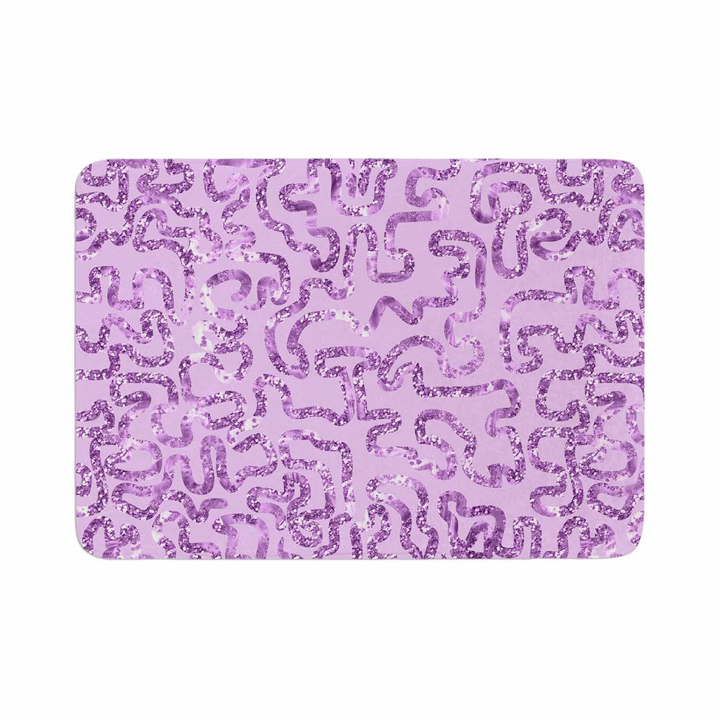 "Anneline Sophia ""Squiggles in Purple"" Lavender Memory Foam Bath Mat - KESS InHouse"
