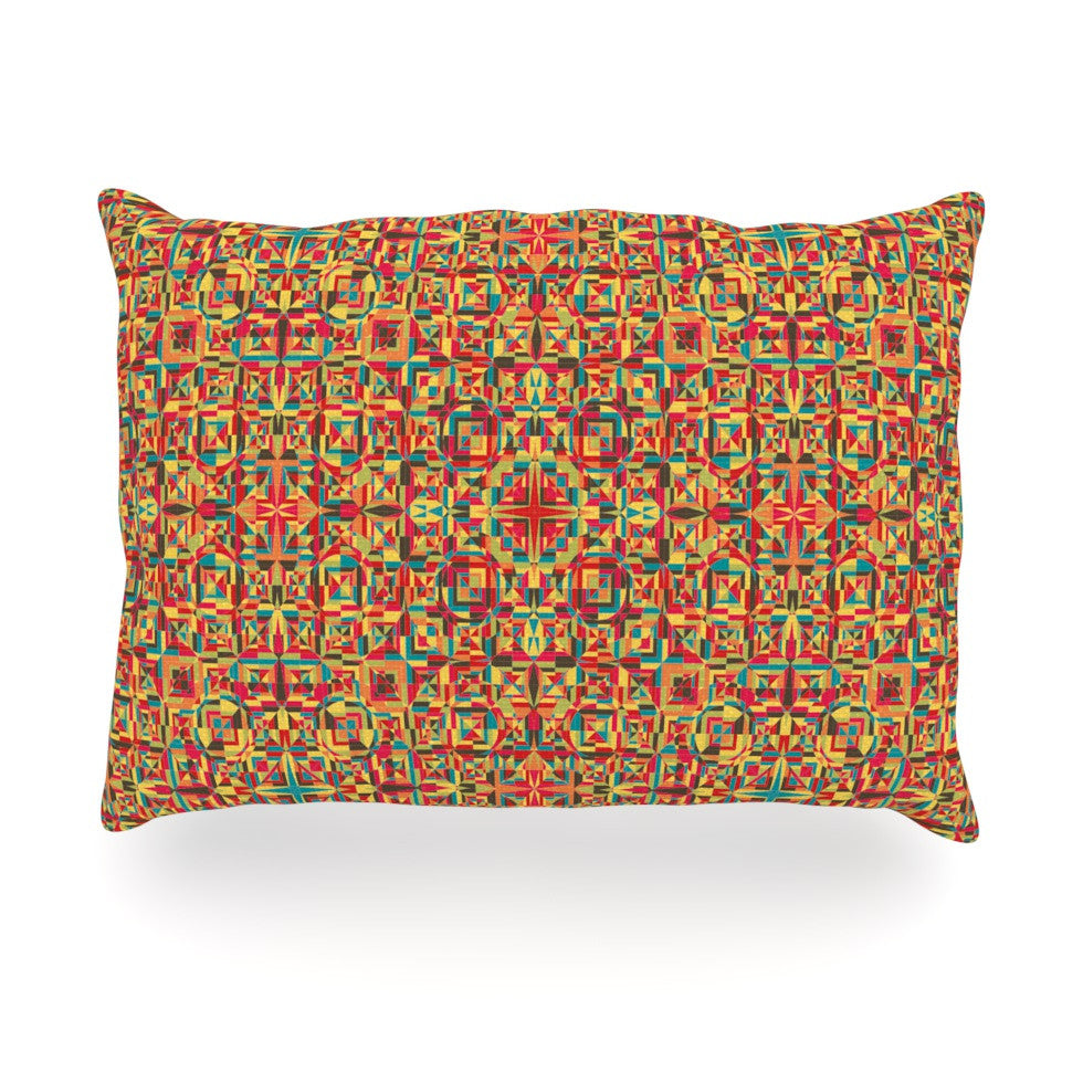 "Allison Soupcoff ""Circus"" Orange Oblong Pillow - KESS InHouse"