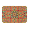 "Allison Soupcoff ""Circus"" Orange Memory Foam Bath Mat - KESS InHouse"
