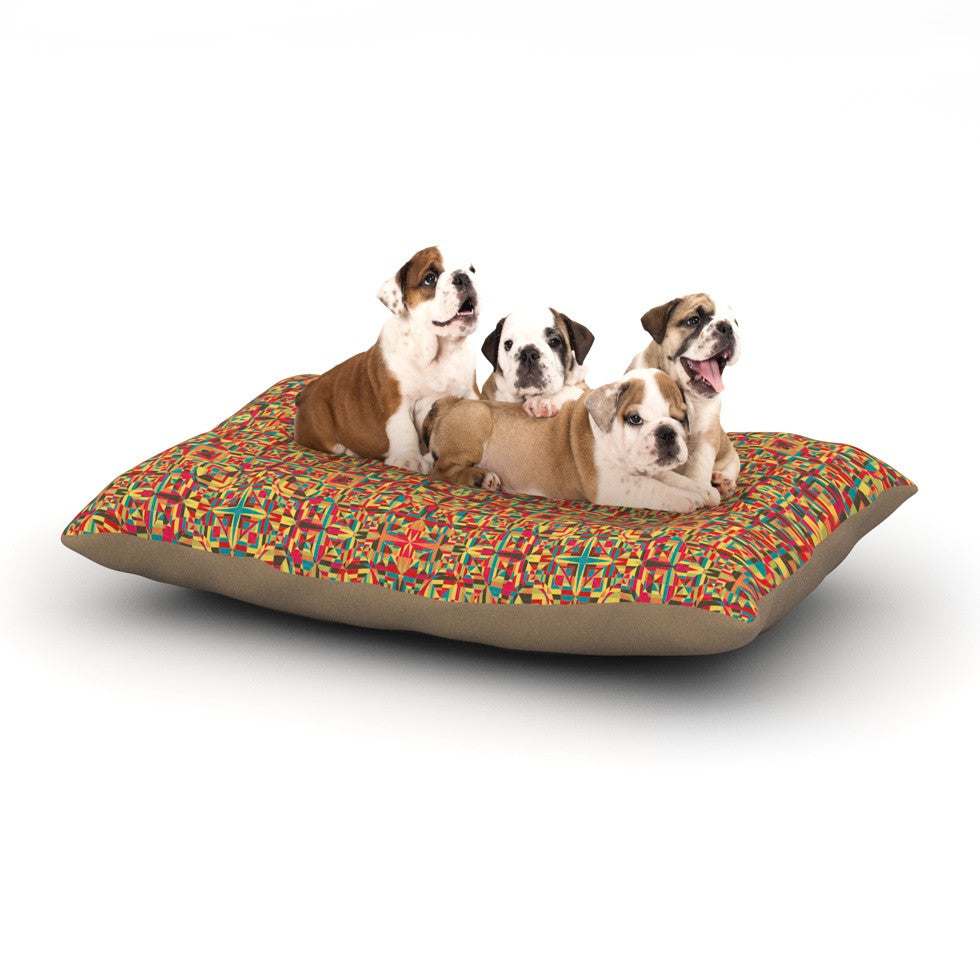 "Allison Soupcoff ""Circus"" Orange Dog Bed - KESS InHouse  - 1"