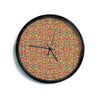 "Allison Soupcoff ""Circus"" Orange Modern Wall Clock"