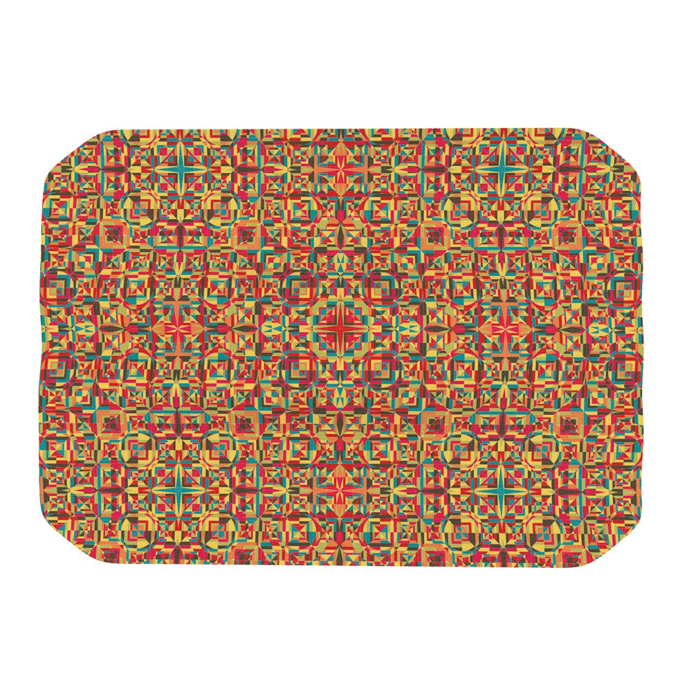 "Allison Soupcoff ""Circus"" Orange Place Mat - KESS InHouse"